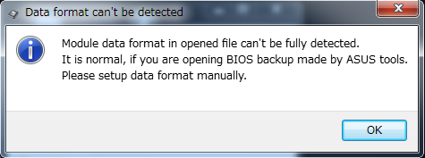 Data format can't be detected
